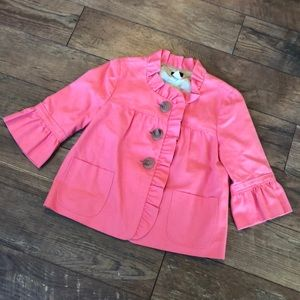 J. Crew Coral Gorgeous Cotton Swing Jacket 6